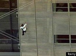 Alain Robert French Spiderman Climbs New York Times Building