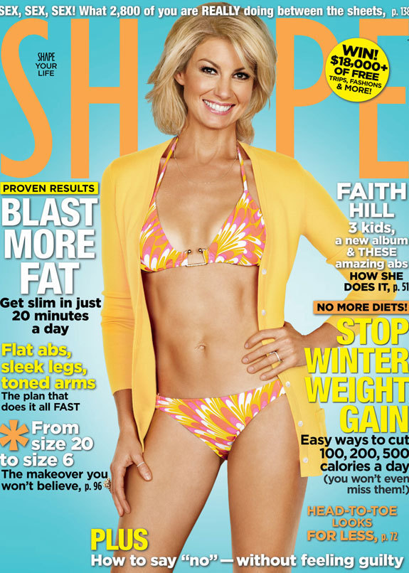 Faith hill in a bikini at 41 huffpost for How old are faith hill s daughters