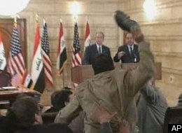 Iraqi Throws Shoes At Bush During Press Conference (VIDEO)(SLIDESHOW