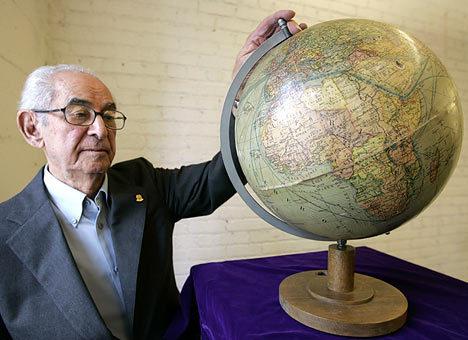 Barsamian with Hitler's Globe