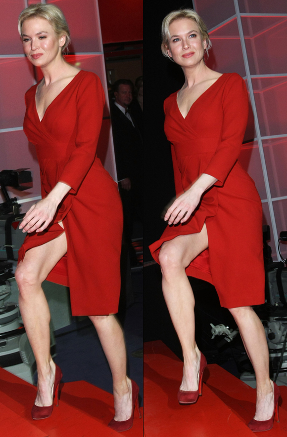 Renee Zellweger Flashes Some Leg Photos