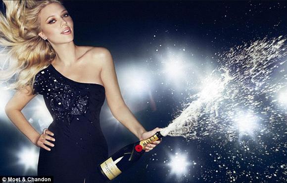 Sexy women with champange