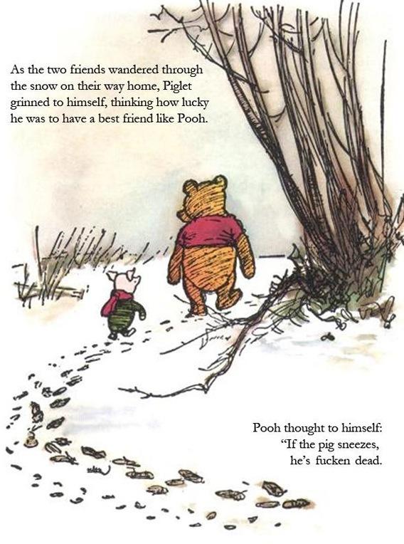 Winnie The Pooh, Piglet and Winnie on Swine Flu [COMIC]