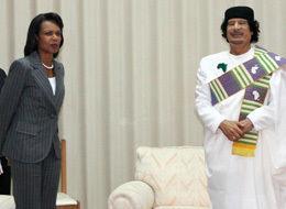 Libya Condoloeezza Rice