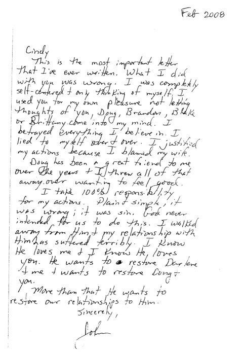 John Ensign Affair Read The Letter He Sent To His Lover